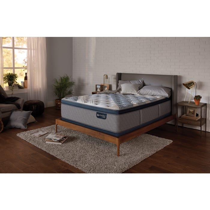 Cal King Serta Icomfort Hybrid Blue Fusion 5000 Cushion Firm Pillow Top Mattress Free 300 Visa Gift Card