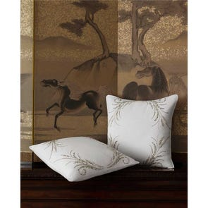 SFERRA Lonna Decorative Pillow in Snow