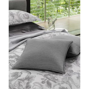 SFERRA Brione Decorative Pillow in Aluminum