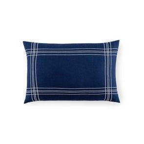 SFERRA Chianni Decorative Pillow in Navy/White