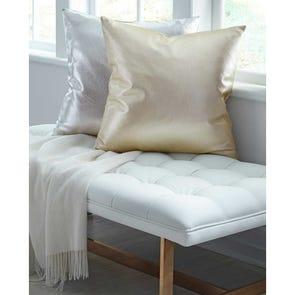 SFERRA Satta Decorative Pillow in Silver