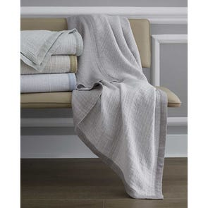 SFERRA Perlo Decorative Throw in Fog