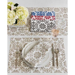SFERRA Haley Placemat Set of 4 in Pewter