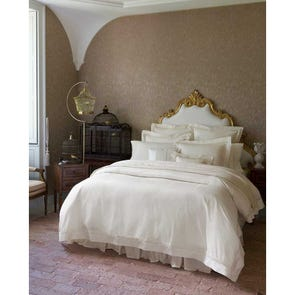 SFERRA Giza 45 Lace Queen Flat Sheet in White