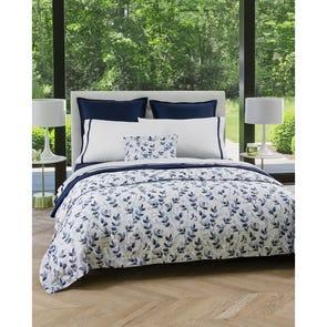 SFERRA Jatelli King Pillowcase Pair in White/Navy