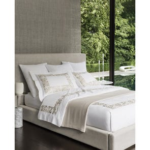 SFERRA Saxon Standard Pillowcase in Grey