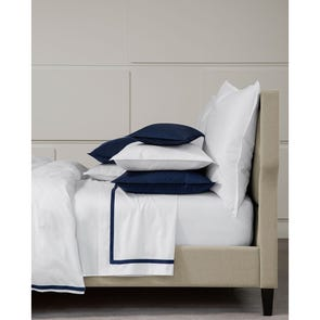 SFERRA Larino Full/Queen Flat Sheet in Navy