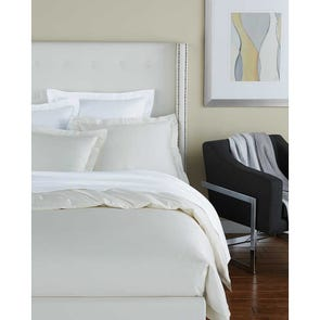 SFERRA Savio Full/Queen Flat Sheet in White