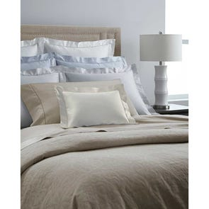 SFERRA Lucio Cal King Fitted Sheet in Cashew