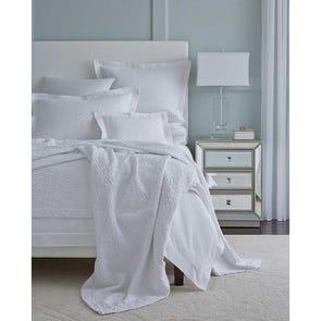SFERRA Tanlia King Blanket Cover in White