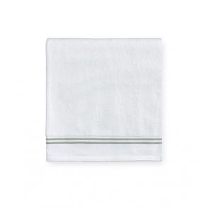 Sferra Aura 30 Inch Hand Towel in White/Celadon