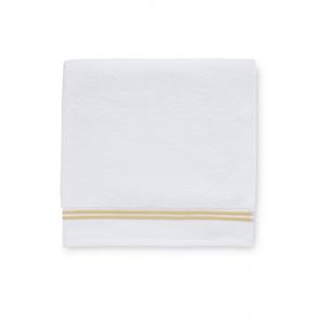 Sferra Aura 30 Inch Hand Towel in White/Corn