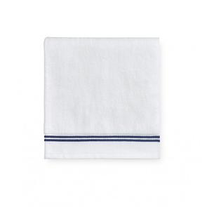 Sferra Aura 30 Inch Hand Towel in White/Dark Blue