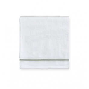 Sferra Aura 60 Inch Bath Towel in White/Celadon