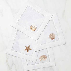 SFERRA Beachcomber Set of 4 Cocktail Napkins