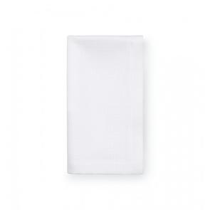 Sferra Blaine 22 Inch Set of Four Dinner Napkins in White
