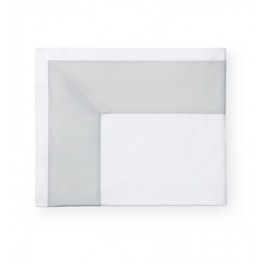 Sferra Casida 114 Inch Full/Queen Flat Sheet in White/Lunar