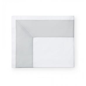 Sferra Casida 114 Inch Full/Queen Flat Sheet in White/Lunar