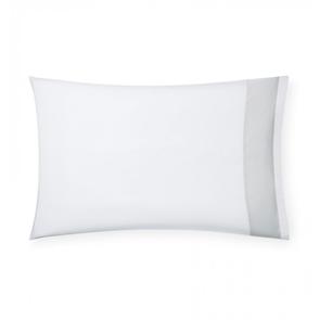 Sferra Casida 33 Inch Standard Pillowcase in White/Lunar
