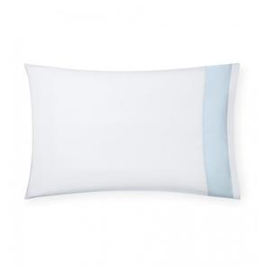 Sferra Casida 33 Inch Standard Pillowcase in White/Powder