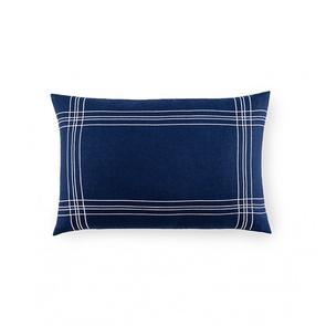 Sferra Chianni 22 Inch Decorative Pillow in Navy/White