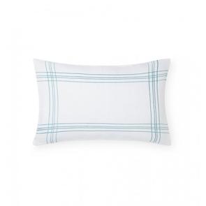 Sferra Chianni 22 Inch Decorative Pillow in White/Aquamarine