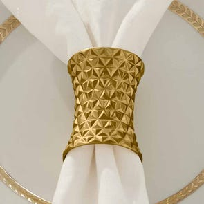 SFERRA Facet Set of 2 Napkin Rings