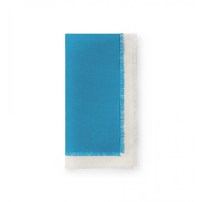 Sferra Farrell Set of Four 20 Inch Dinner Napkin in Teal/Oyster