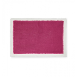 Sferra Farrell Set of Four 20 Inch Placemat in Berry/Oyster