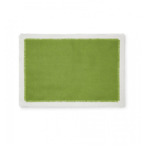 Sferra Farrell Set of Four 20 Inch Placemat in Fern/Oyster