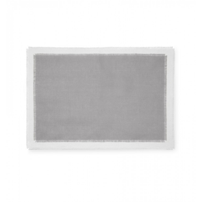 Sferra Farrell Set of Four 20 Inch Placemat in Grey/Oyster