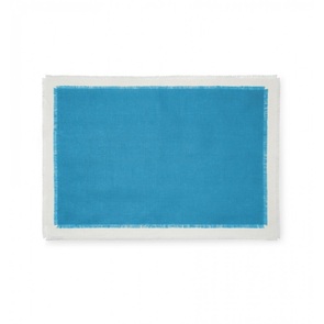 Sferra Farrell Set of Four 20 Inch Placemat in Teal/Oyster