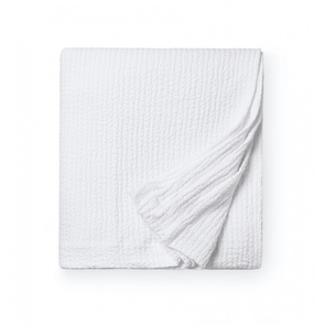 Sferra Ginto 94 Inch Full/Queen Blanket Cover in White