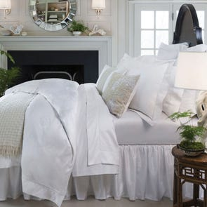 SFERRA Giza 45 Medallion Queen Fitted Sheet