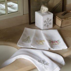 SFERRA Holiday Bath Guest Towel Set of 2