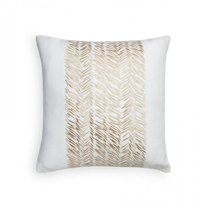 Sferra Niama 20 Inch Decorative Pillow in Oyster/Sand