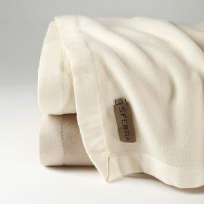 SFERRA Olindo Bagged Linen Blanket