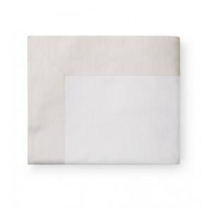 Sferra Opelle 114 Inch Full/Queen Flat Sheet in Latte