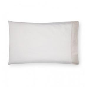 Sferra Opelle 42 Inch King Pillowcase Pair in Latte