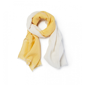 Sferra Sitta 78 Inch Scarf with Fringe in Butter