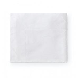 Sferra Somina 114 Inch Full Queen Flat Sheet in White