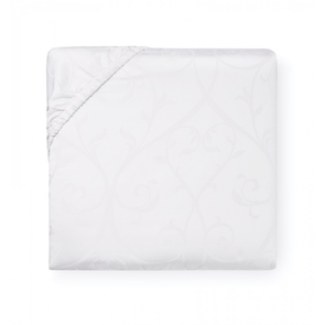 Sferra Somina 80 Inch Queen Bottom Fitted Sheet in White