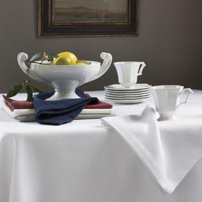 SFERRA Squire 106 Inch Round Tablecloth