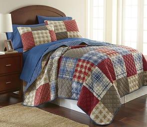 Shavel Micro Flannel® Berry Patch Plaid Quilt Set