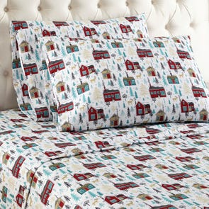 Shavel Micro Flannel® Cabins Queen Sheet Set