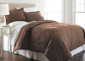 Shavel Micro Flannel® Chocolate Comforter Set