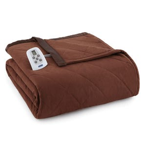 Shavel Micro Flannel® Chocolate Electric Heated Blanket