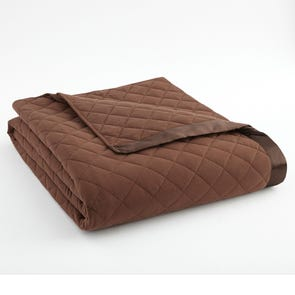 Shavel Micro Flannel® Chocolate Quilted Blanket