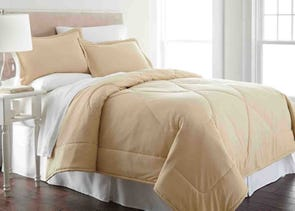 Shavel Micro Flannel® Comforter with Shams in Chino