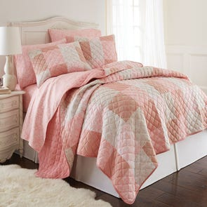 Shavel Micro Flannel® Enchantment Patchwork Quilt Set